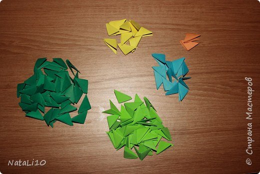Оригами модульное: Рыбка в море фото 2
