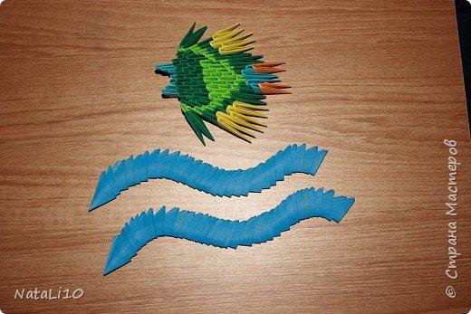 Оригами модульное: Рыбка в море фото 1