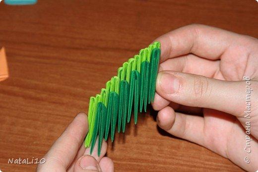 Оригами модульное: Рыбка в море фото 5
