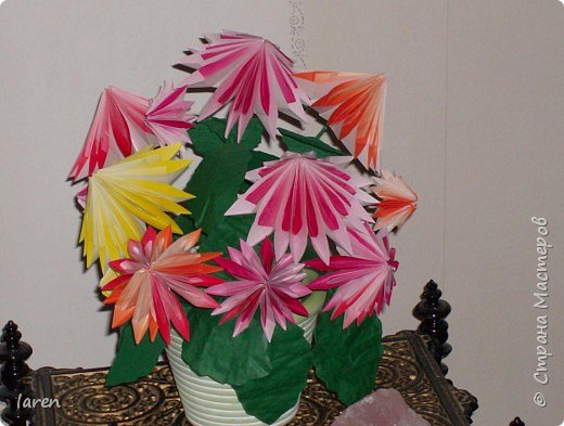Оригами: Byket georgin