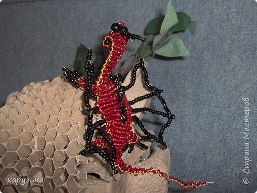 Бисероплетение: Огнедышащий дракон фото 4