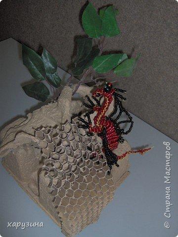 Бисероплетение: Огнедышащий дракон фото 3