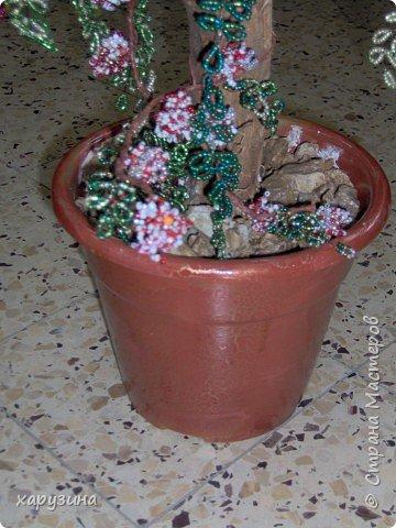 Бисероплетение: Цветущее дерево фото 3
