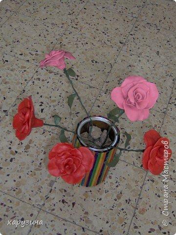 Лепка: Розовые розы... фото 2