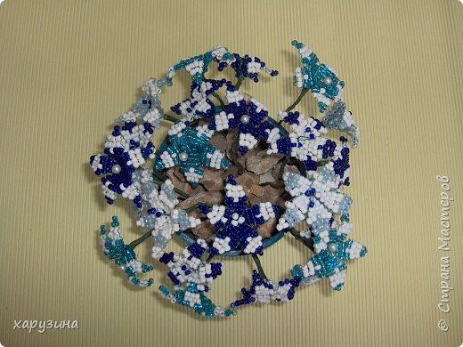 Бисероплетение: Букет в бело-голубой гамме фото 2
