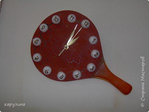 Часы из тенисной ракетки фото 1