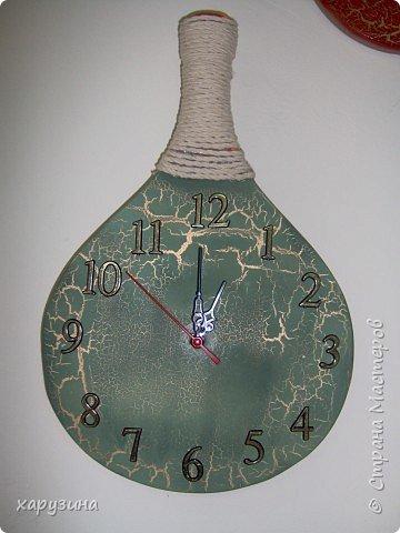Часы из тенисной ракетки фото 2
