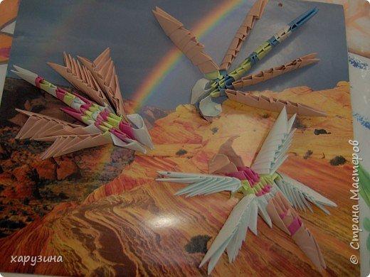 Оригами модульное: Стрекозы фото 1