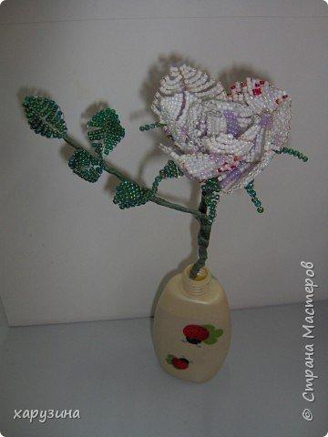 Бисероплетение: Роза для мамы фото 1