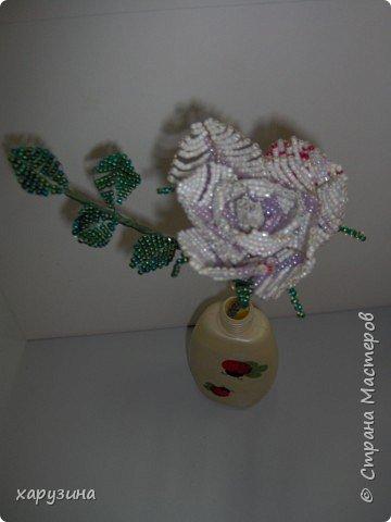 Бисероплетение: Роза для мамы фото 2