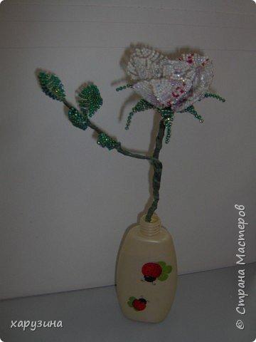Бисероплетение: Роза для мамы фото 3