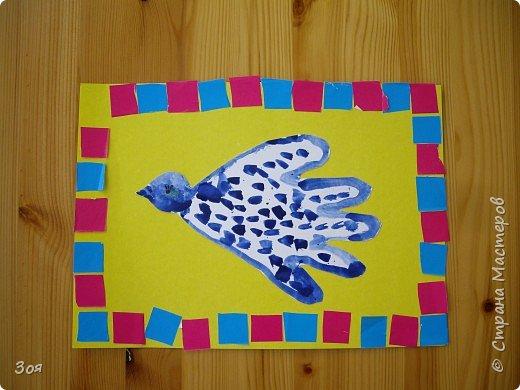 Отпечатки ладошек: Птички фото 2