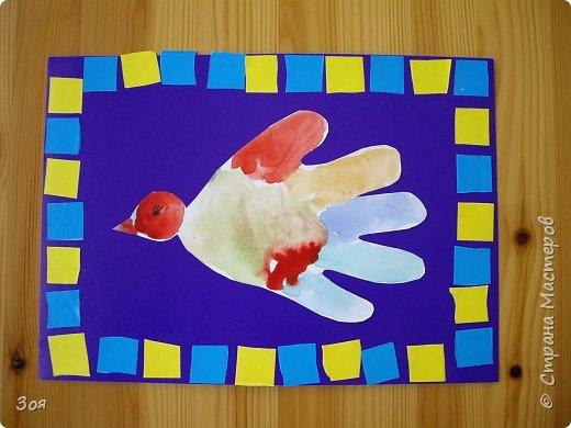 Отпечатки ладошек: Птички фото 7