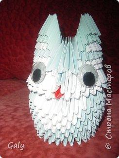 Оригами модульное: Филин и совушка фото 1