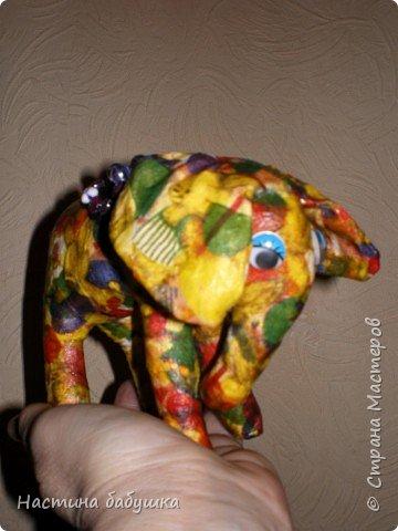 Декупаж: Ситцевый слоник Элина. фото 1