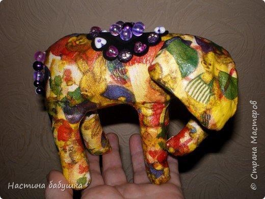 Декупаж: Ситцевый слоник Элина. фото 2