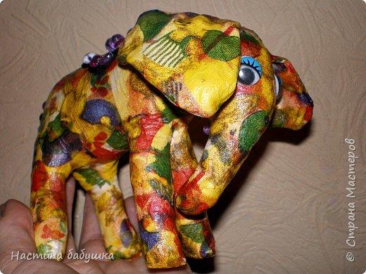Декупаж: Ситцевый слоник Элина. фото 3