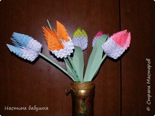 Оригами модульное: Цветы для мамы