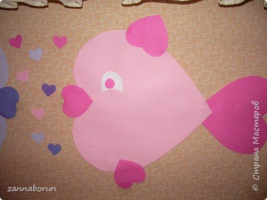 Аппликация: Рыбки-валентинки фото 3