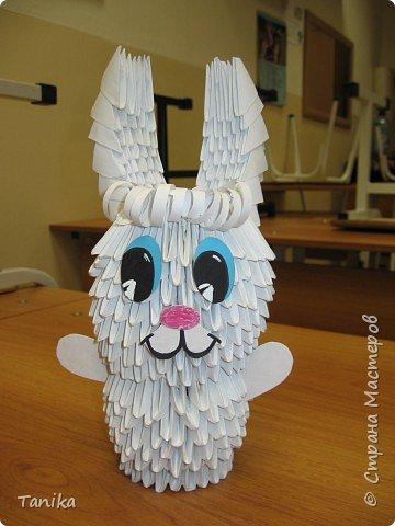 """Оригами модульное: Зайчик (коллективная работа 1 """"В"""")"""