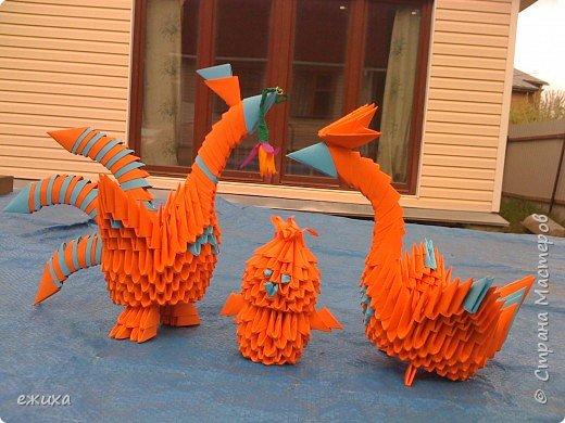 Оригами модульное: Птичья семейка фото 1