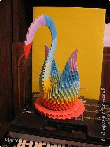 Оригами модульное: Лебеди фото 1