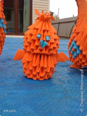 Оригами модульное: Птичья семейка фото 2