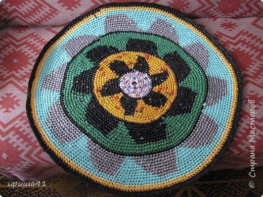 Интерьер Вязание крючком Чудо-коврики Материал бросовый фото 3
