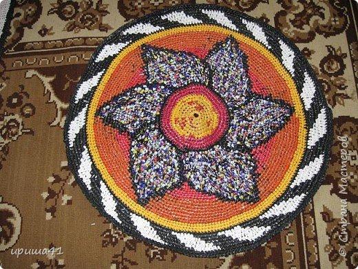 Интерьер Вязание крючком Чудо-коврики Материал бросовый фото 1