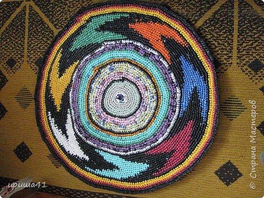 Интерьер Вязание крючком Чудо-коврики Материал бросовый фото 4