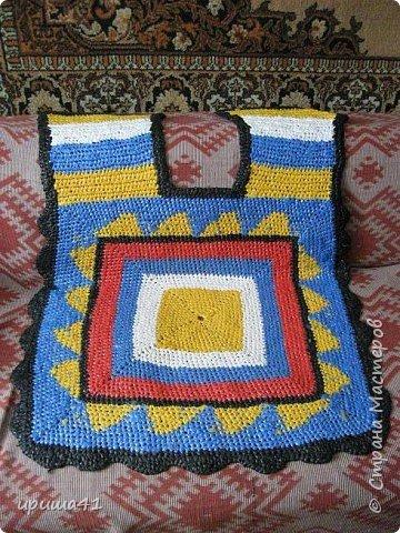 Интерьер Вязание крючком Чудо-коврики Материал бросовый фото 11