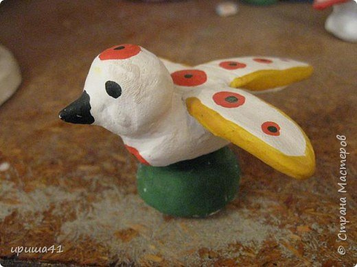 Лепка: Первая птичка.