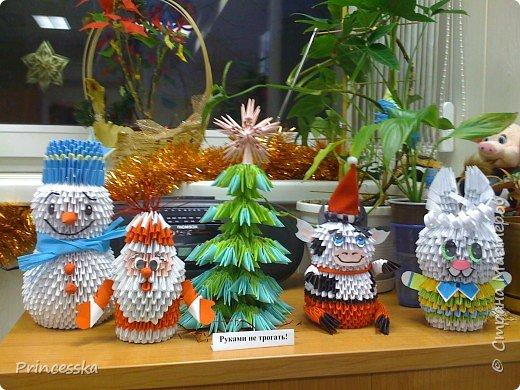 Оригами модульное: Лебедь и зайка и другие фото 2