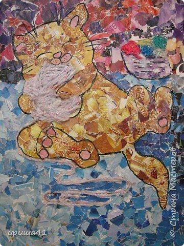 Мозаика: Озорной котенок.