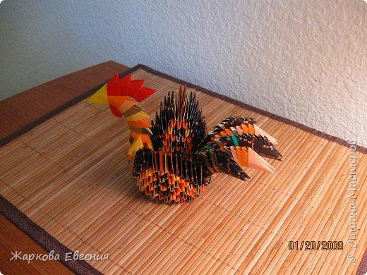 Оригами модульное: Петух фото 2