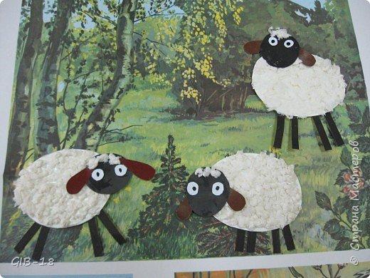 Торцевание: овечки на полянке