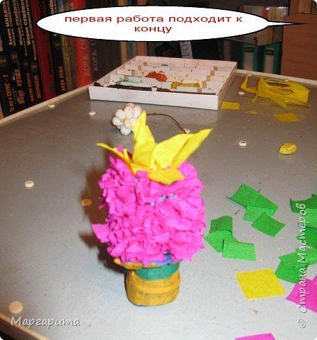Торцевание на пластилине: В подарок маме фото 4