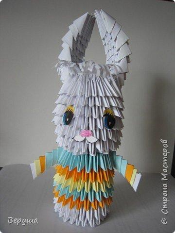 Оригами модульное: Зайчик