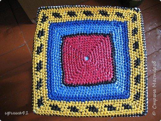 Интерьер Вязание крючком Чудо-коврики Материал бросовый фото 12
