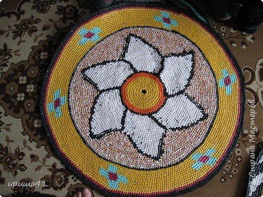 Интерьер Вязание крючком Чудо-коврики Материал бросовый фото 6