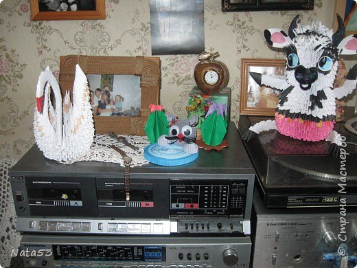 Оригами модульное: Лебеди с бычком фото 4