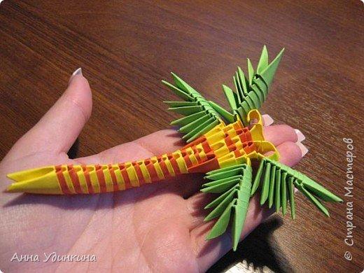 Оригами модульное: Моя стрекозка фото 2