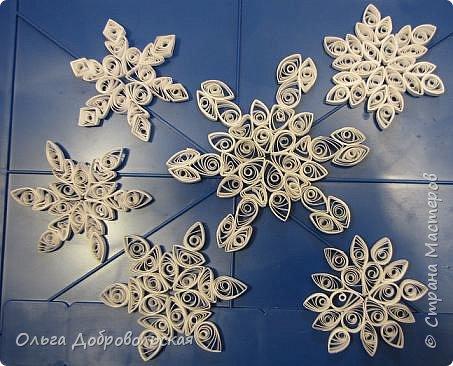Квиллинг: Падал прошлогодний снег...