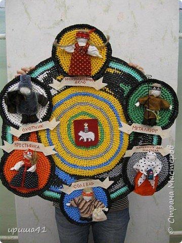 Интерьер Вязание крючком Чудо-коврики Материал бросовый фото 15