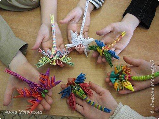 Оригами модульное: Хоровод стрекоз фото 1