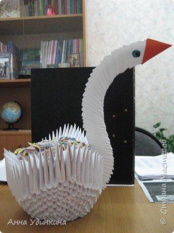 """Оригами модульное: Наш """"щедрый"""" лебедь"""