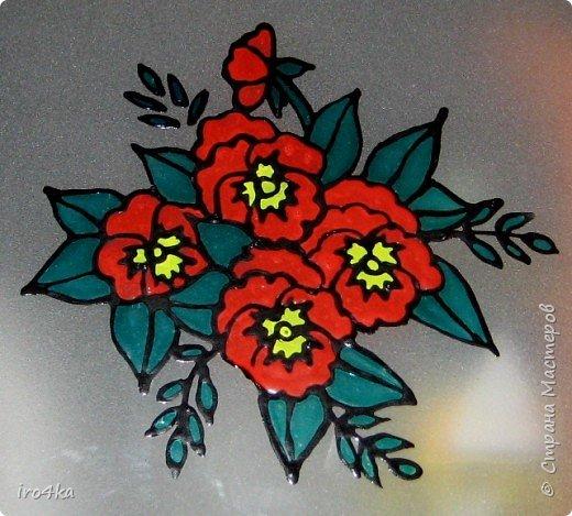 Витраж: Цветы на стекле фото 1