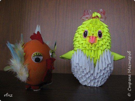 Оригами модульное: цыплятки фото 1