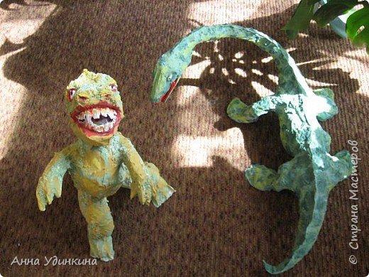Папье-маше: Илюшины динозавры фото 3