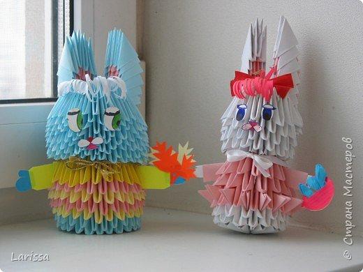 Оригами модульное: Зайчики на прогулке
